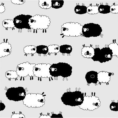 The pattern of a sheep loving,