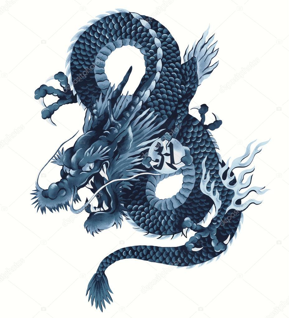 Risultati immagini per drago giapponese