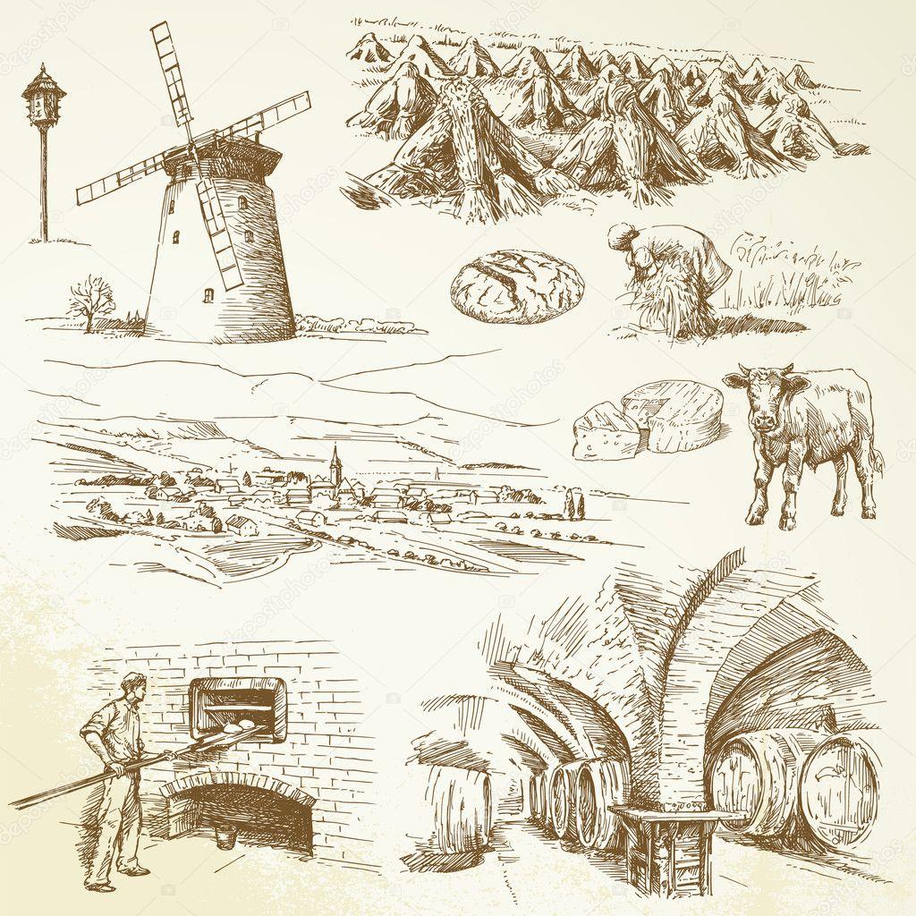 Agriculture, rural village