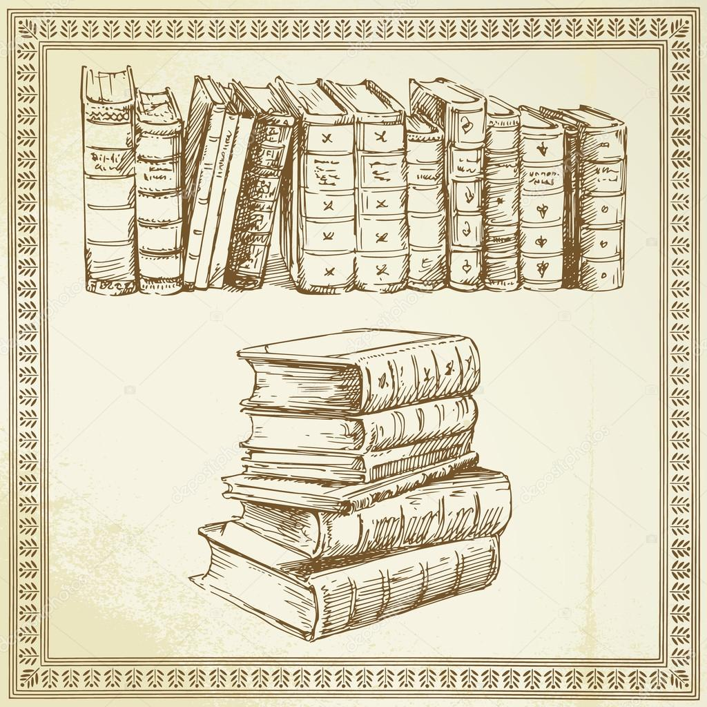 Books - hand drawn set