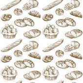 Fotografie chléb - bezešvé pattern