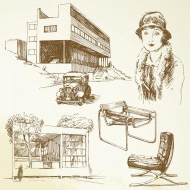 Modern architecture - hand drawn set