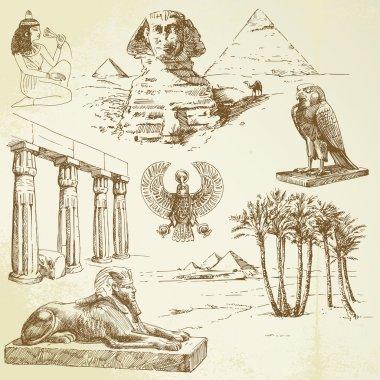 Ancient egypt - hand drawn set