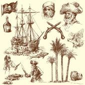 Piráti - ručně kreslenou kolekce
