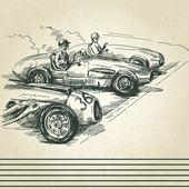 Photo Vintage racing cars