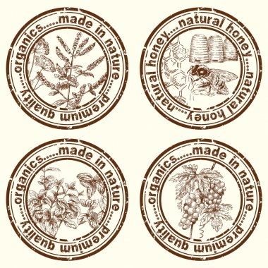 Herbs - stamp, label