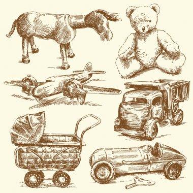 Antique toys-original hand drawn collection