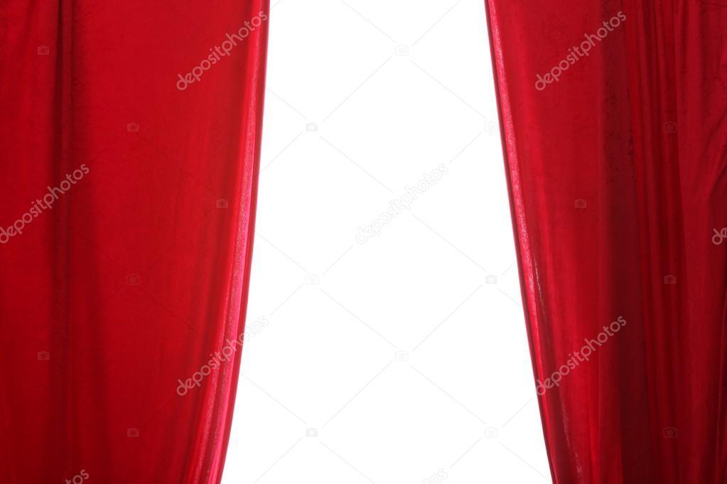 cortinas rojas sobre un fondo blanco u foto de knutwiarda