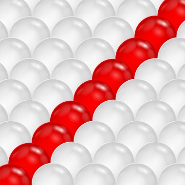 Abstract background of gray and red spheres.abstraction of the b