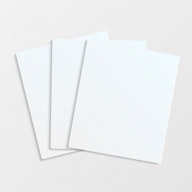 Sheets of white paper with place for your text