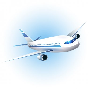 Vector illustration of the airplane stock vector