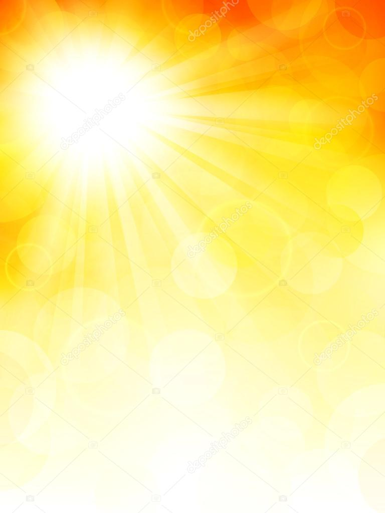 Autumn background with sun