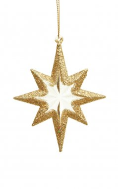 Gold star Christmas ornament