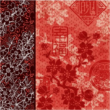 Traditional Oriental style wallpaper