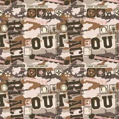 Urban camouflage seamless pattern