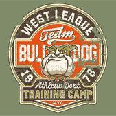 Bulldoggen-Fußballmannschaft