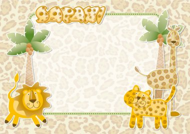 Cute safari wallpaper