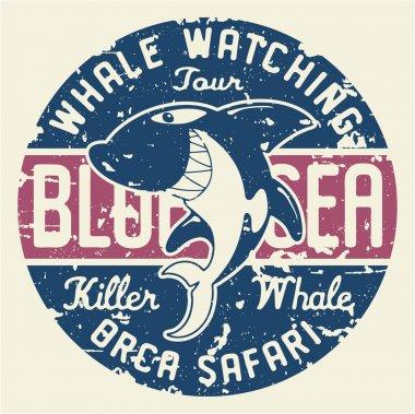 Killer whale badge