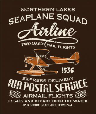 Vintage seaplane airmail service