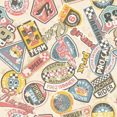 Kids racing badges patchwork