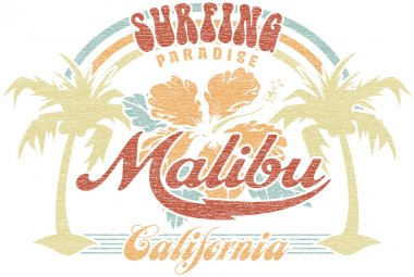 Malibu surfing paradise
