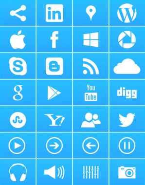 Windows 8 Social Media Icons