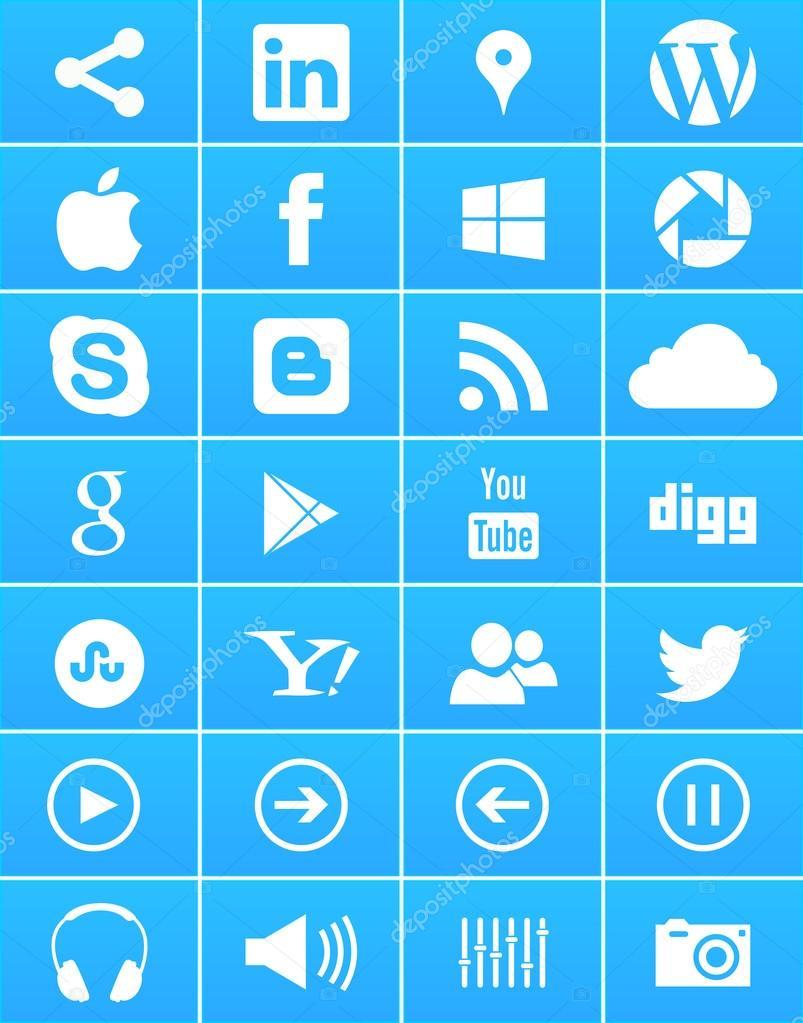 Windows 8 Social Media Icons
