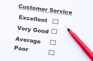 Customer service survey form