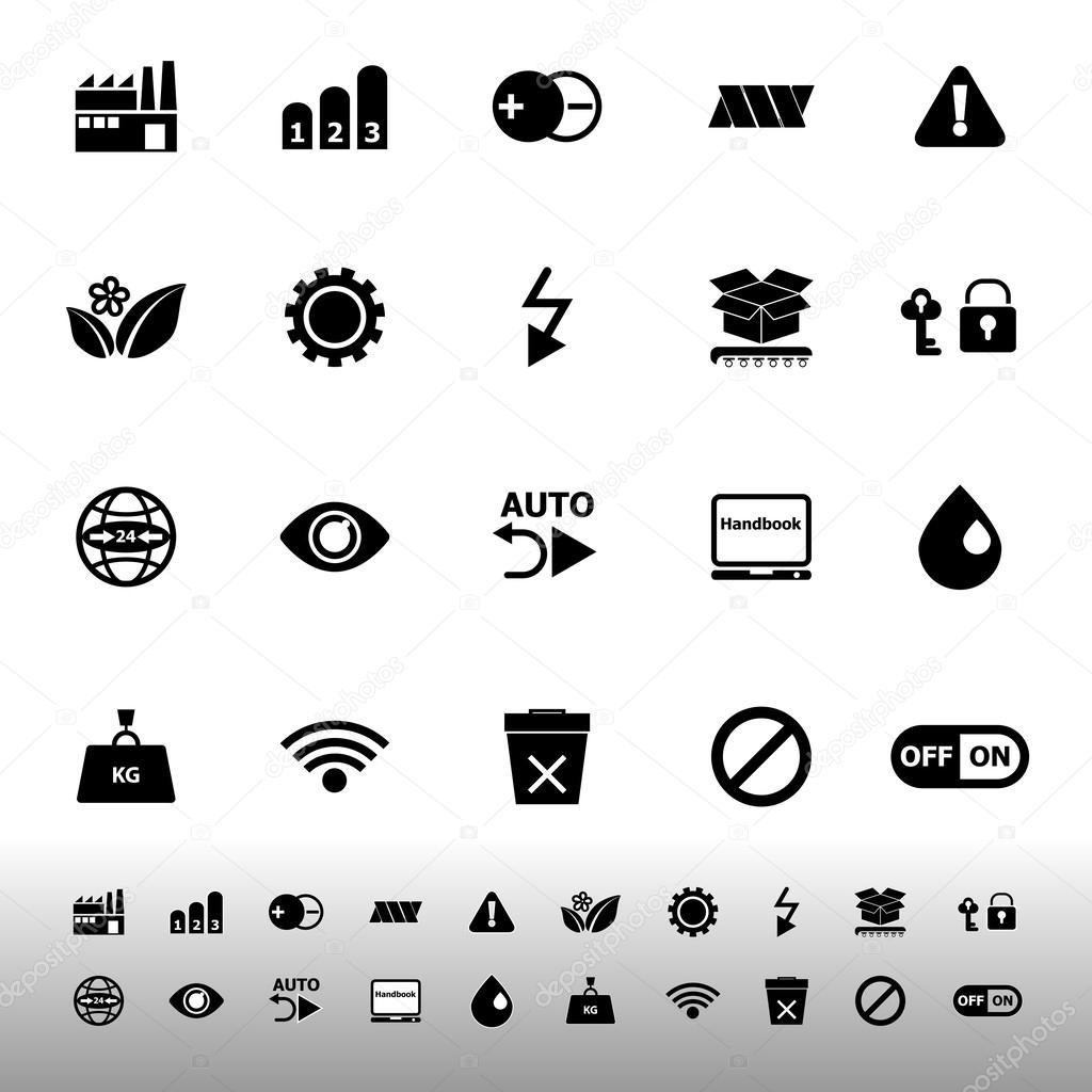 Elektronische Zeichen Symbole auf weißem Hintergrund — Stockvektor ...