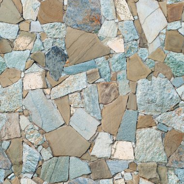 Masonry Wall of Stones Granite with irregular pattern, seamless