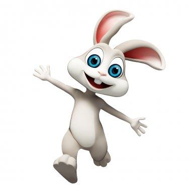 Happy jumping bunny