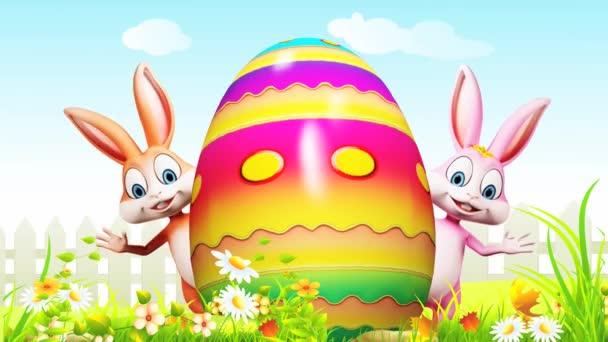 Šťastné Velikonoce Zajíčci mávat