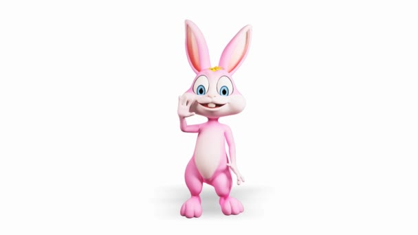 Happy bunny mává