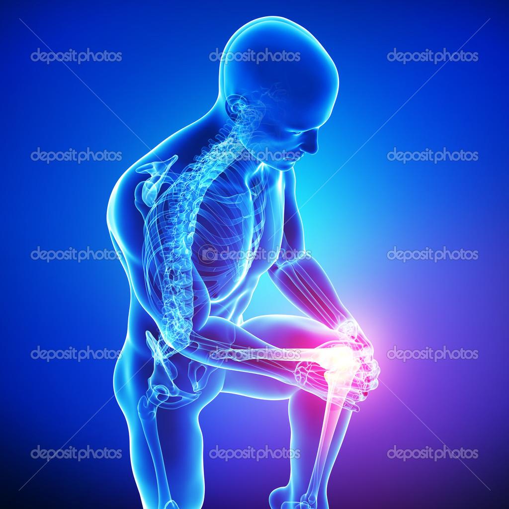 male knee pain — Stock Photo © pixologic #22672703