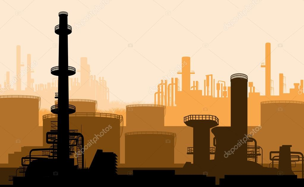 Industrial part of city, power plant