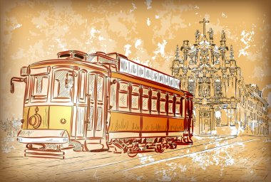 Tram in Porto, Portugal