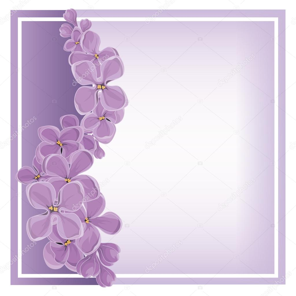 Spring vector background with lilac.