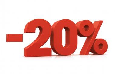 3D Render of 20 percent