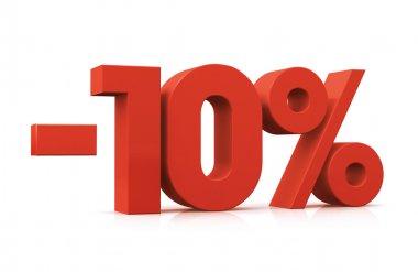 Porcentaje, -10%