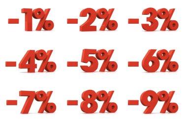 Porcentaje, 1 at 9