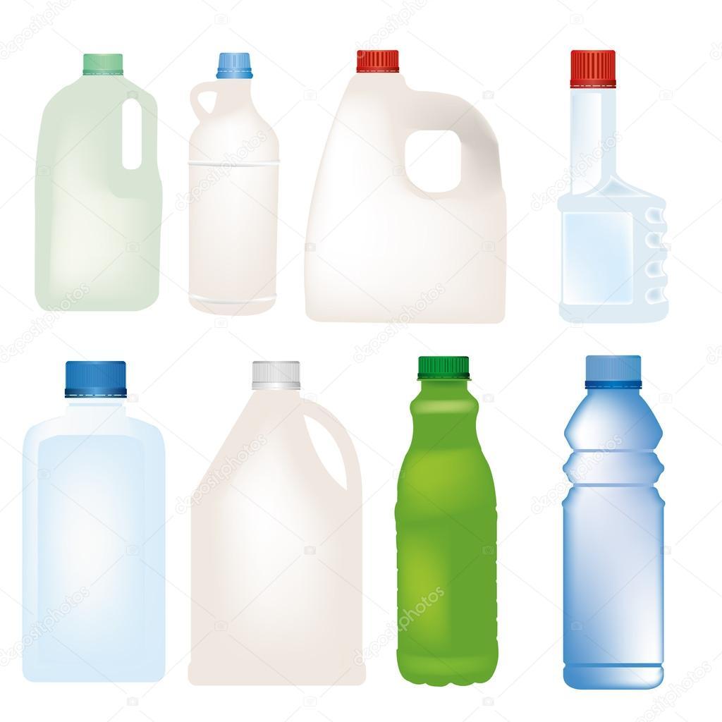 bottle vector set
