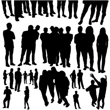 Crowded silhouette vector