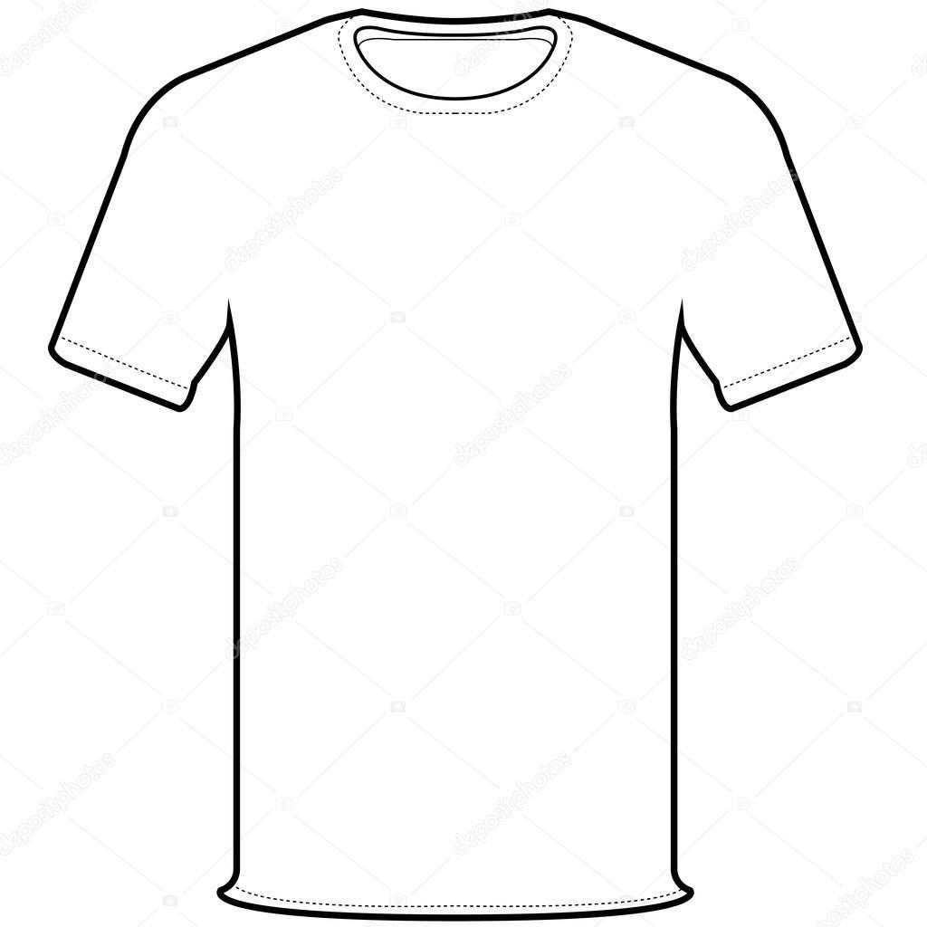 Aislar a la parte delantera de la camiseta blanca en blanco - vectores   camisa — Vector de attaphongw — Vector de ... 049c4644ddbef
