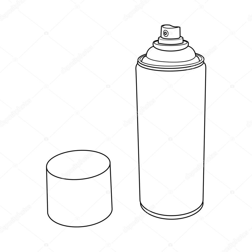 How To Draw Spray Paint Bottle Spray Painting Kitchen Cabinets