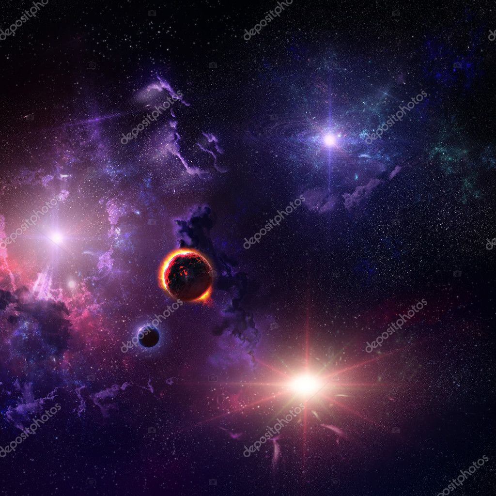 Starfield stardust and nebula space art galaxy creative background