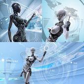 futuristické ženské android