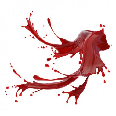 Splashes of red liquid
