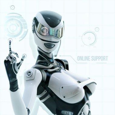 Futuristic female android