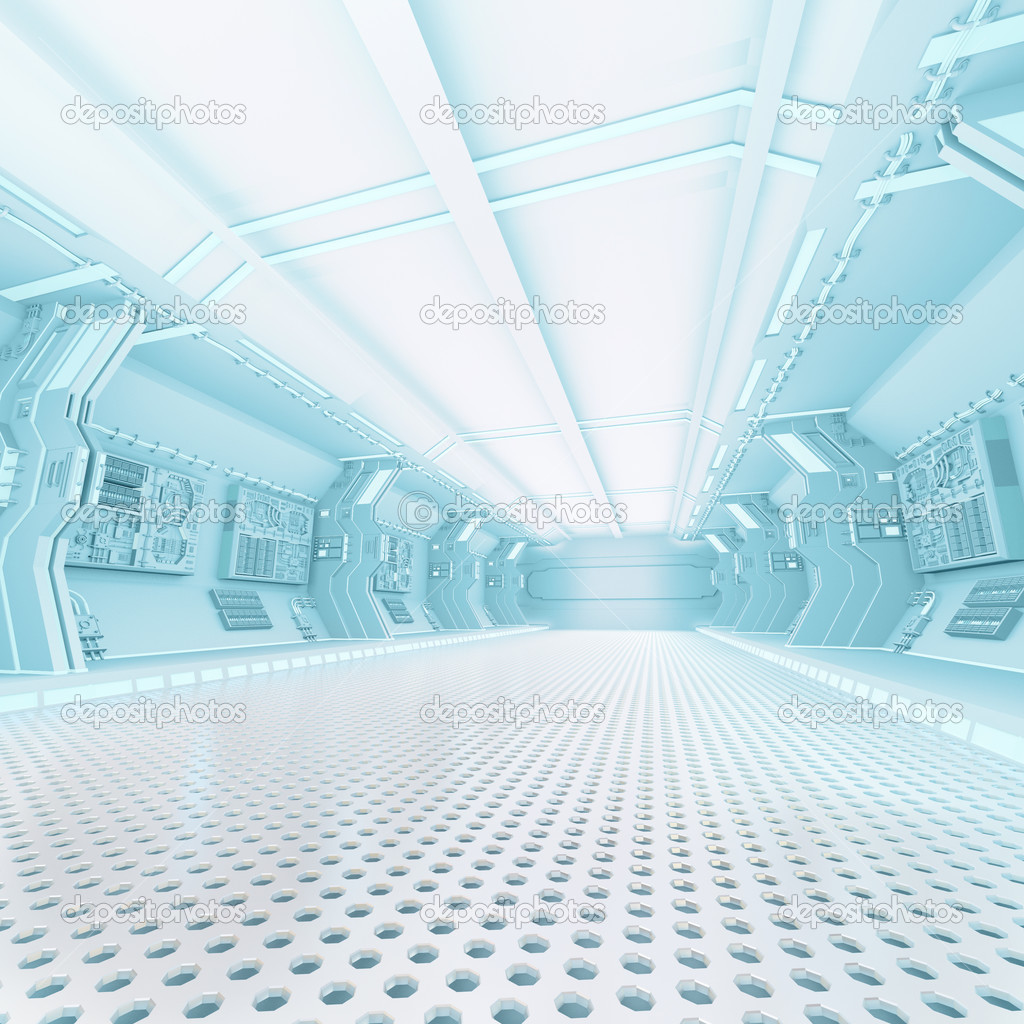 Futuristic Design Spaceship Interior