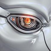 Futurisztikus világos cyber eye